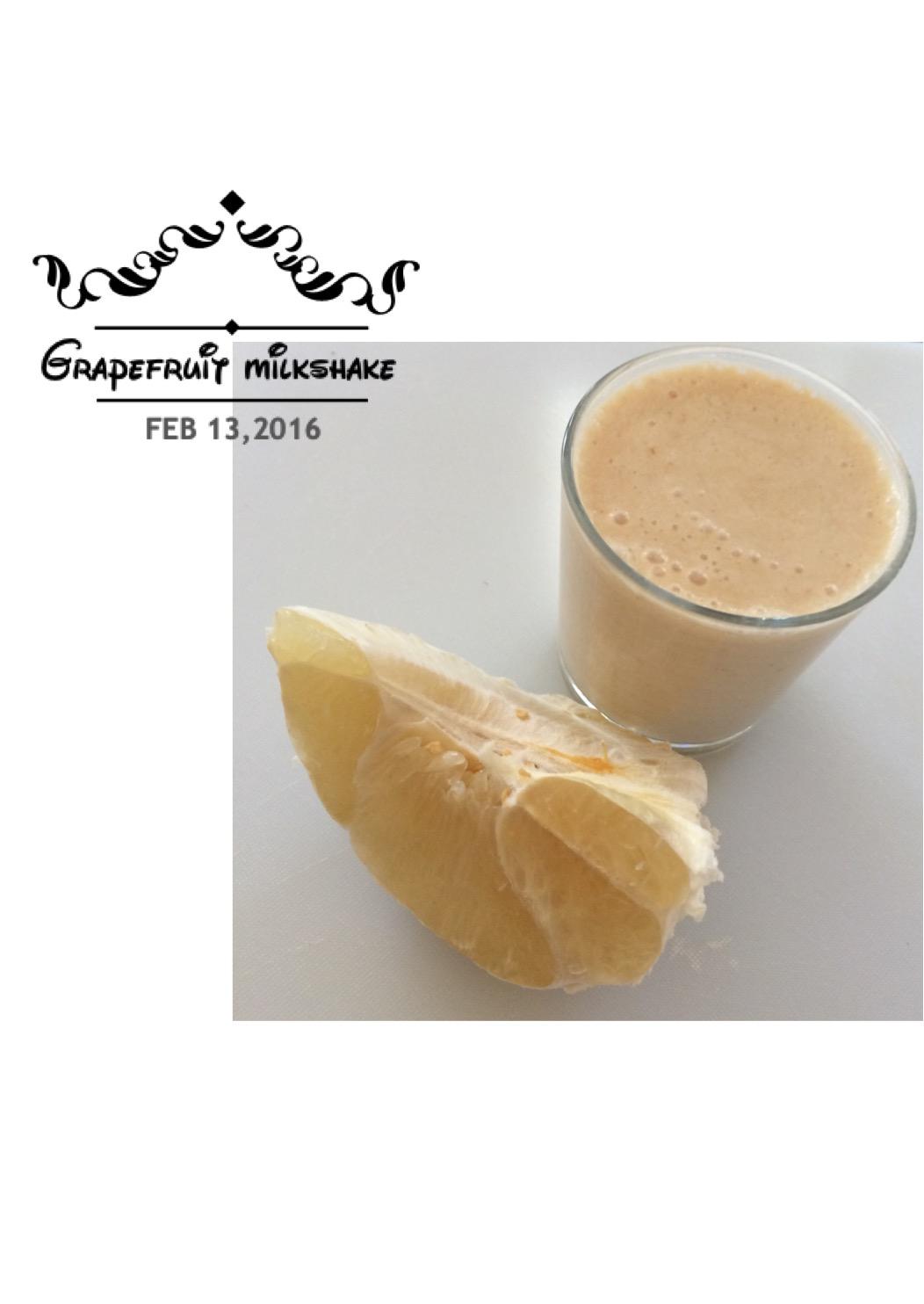 Grapefruit healthy milkshake